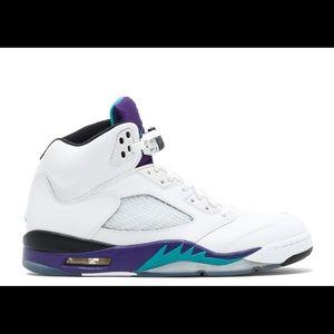 🍇Air Jordan Retro 5 'Grape' Sneakers🍇
